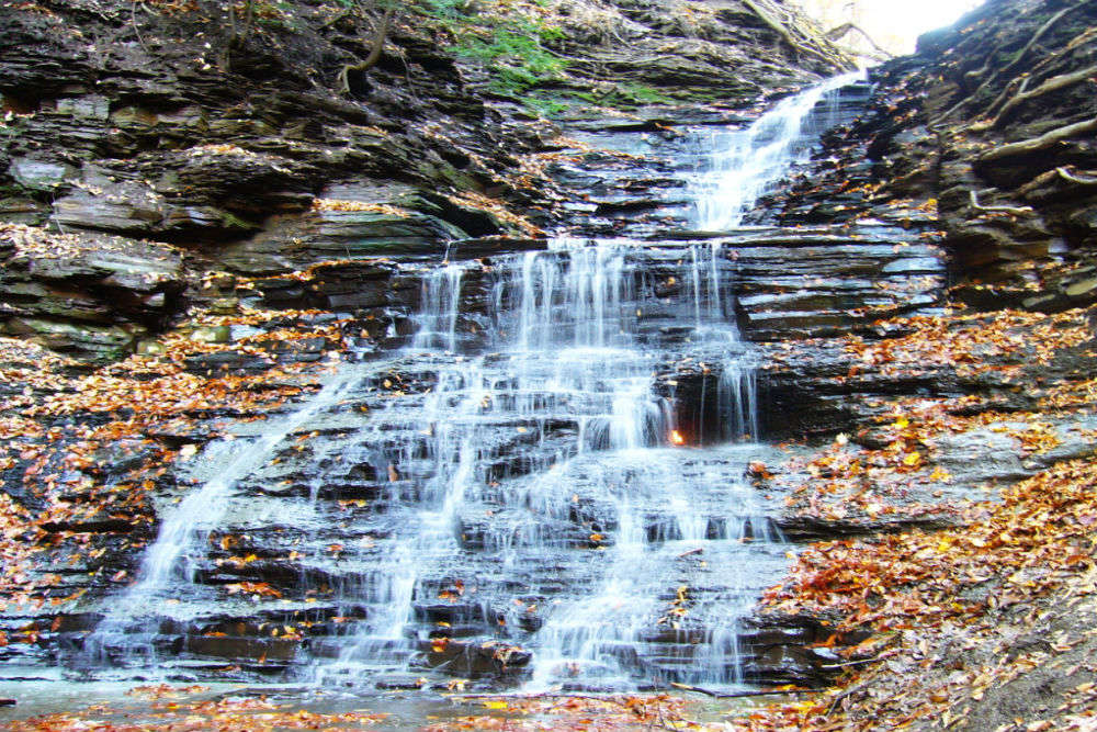 Eternal Flame Falls in New York