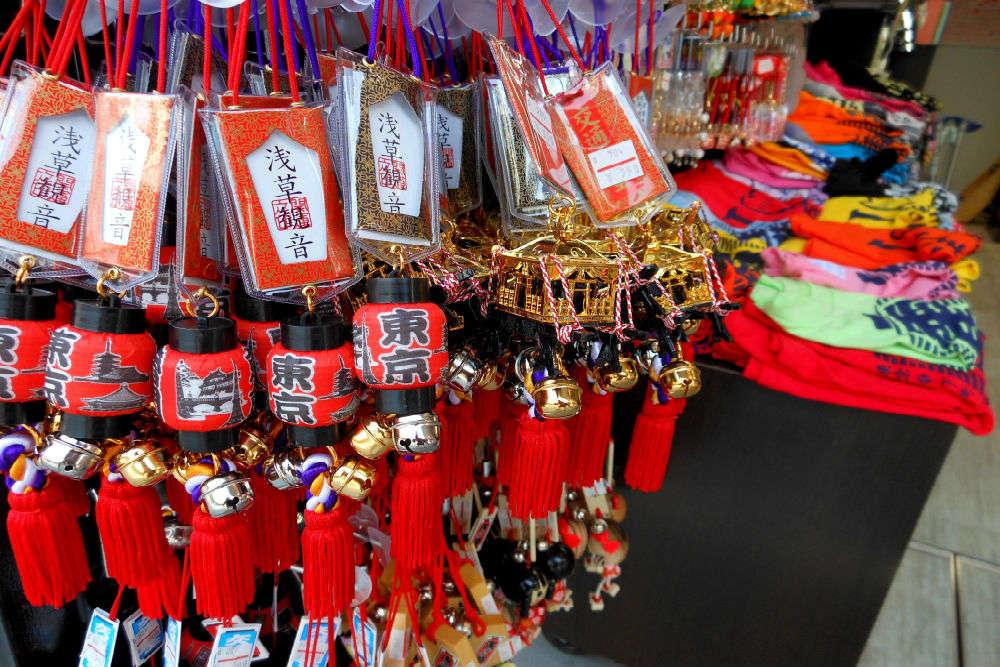 Shop at Nakamise-dori shopping arcade