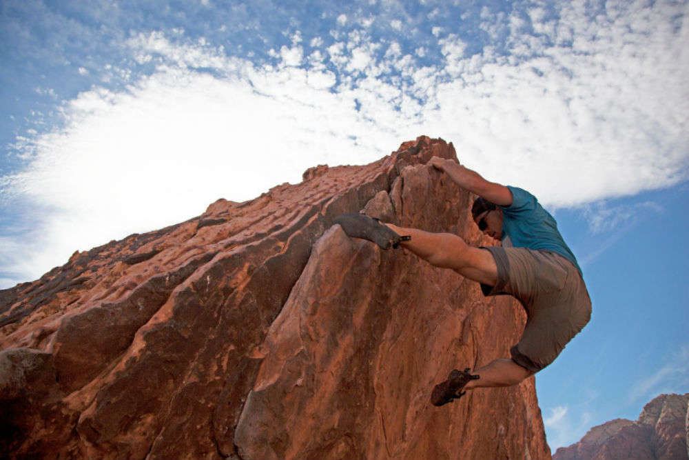 Nevada has some of the best rock climbing in the US