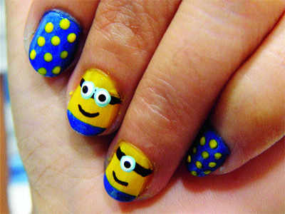 Have You Tried The Minion Nail Art Yet Times Of India