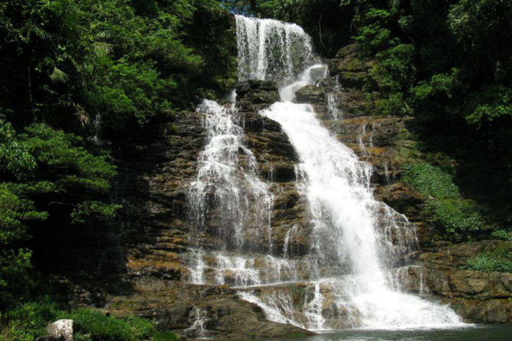 Secret waterfall at Riwai