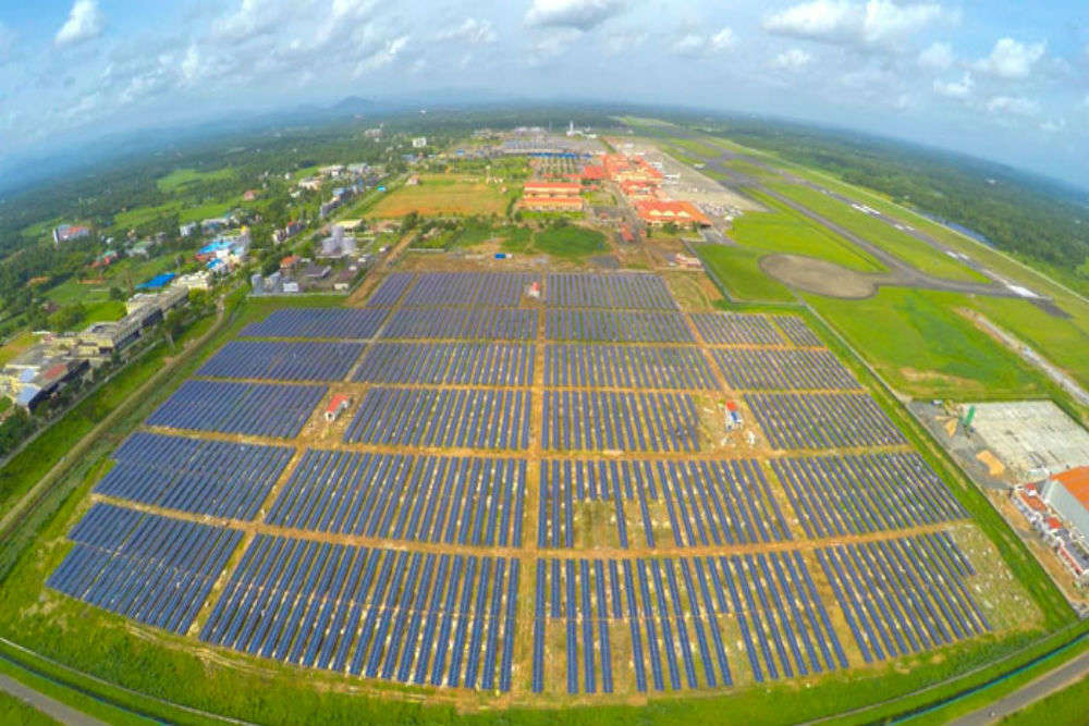 Kochi airport becomes world's first to run totally on solar energy