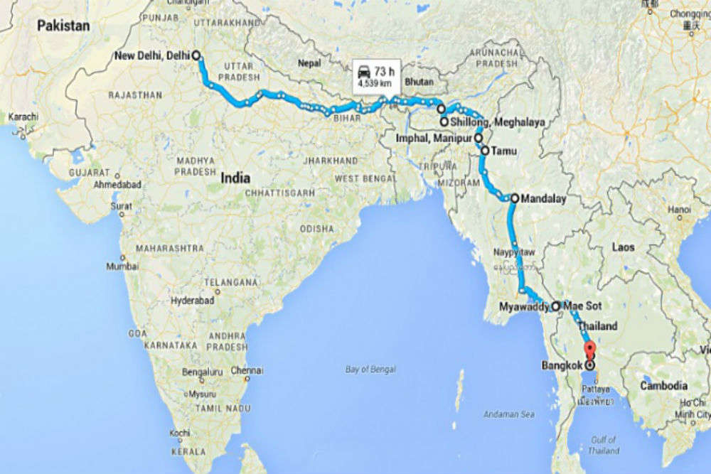 India to Thailand on wheels!
