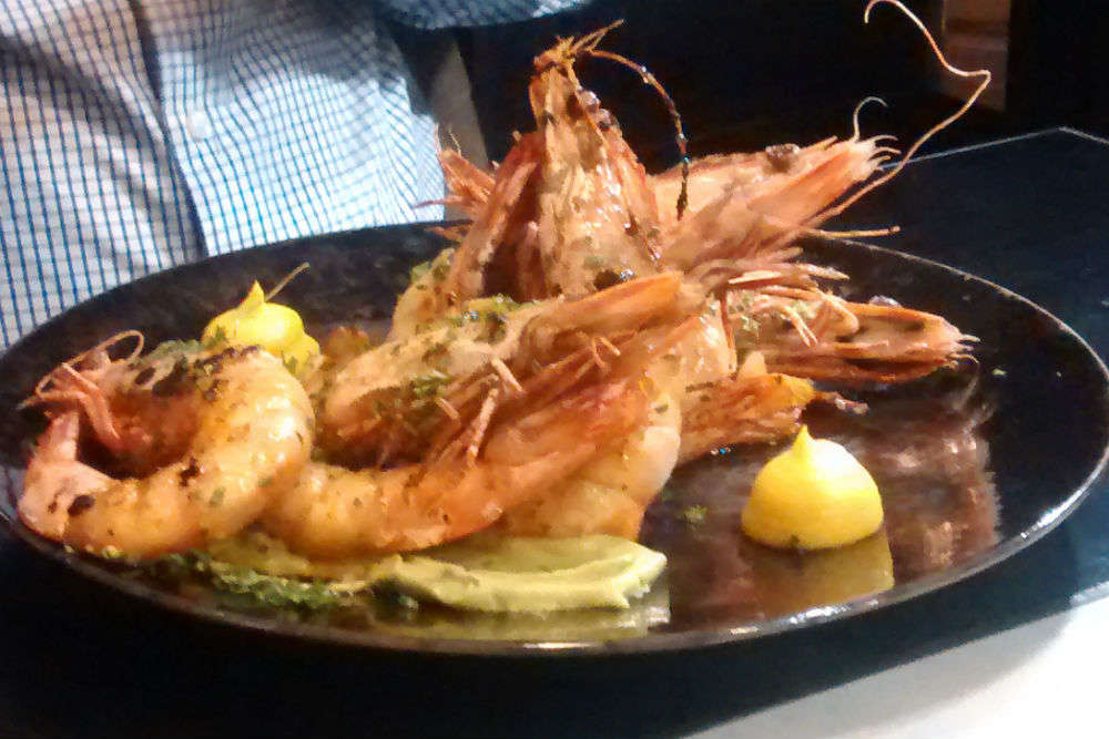 Feasting on Mooloolaba prawns