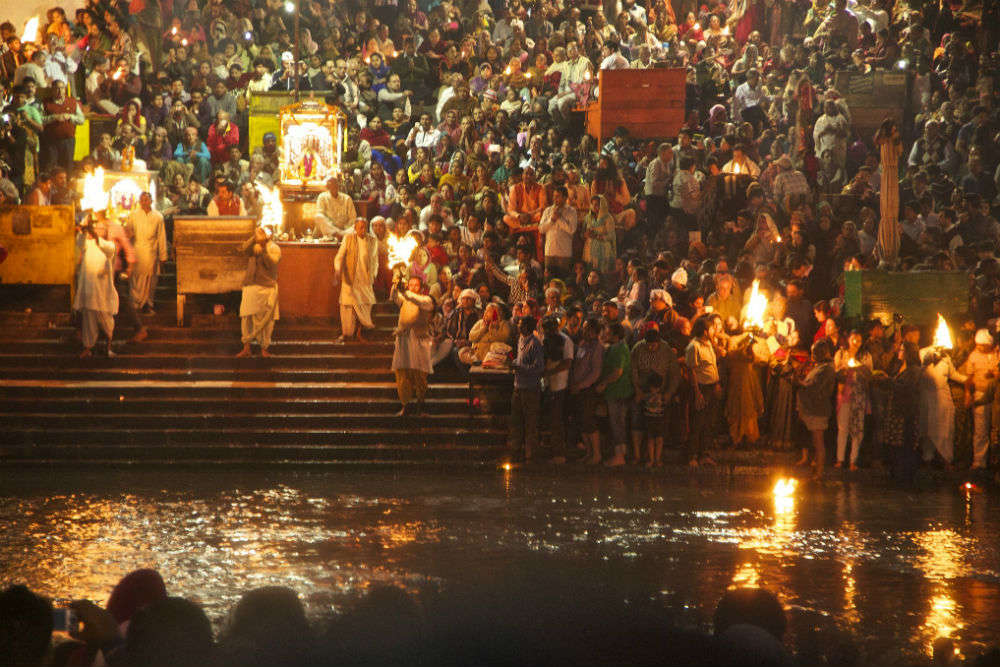 Evening Ganga Arti at the ghats