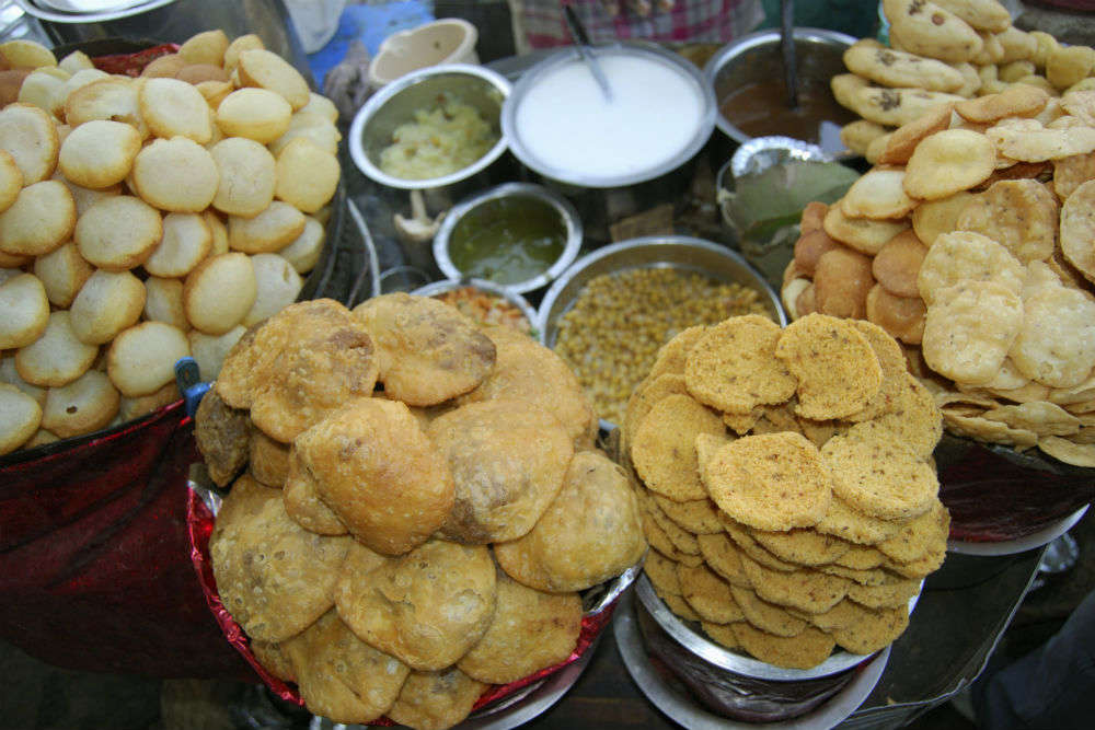 Golgappas at Chawla's and Nand's on Fashion Street