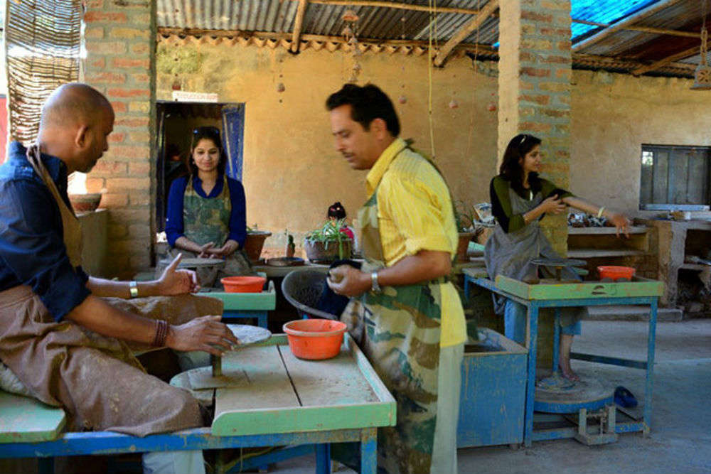 Pottery classes at Andretta