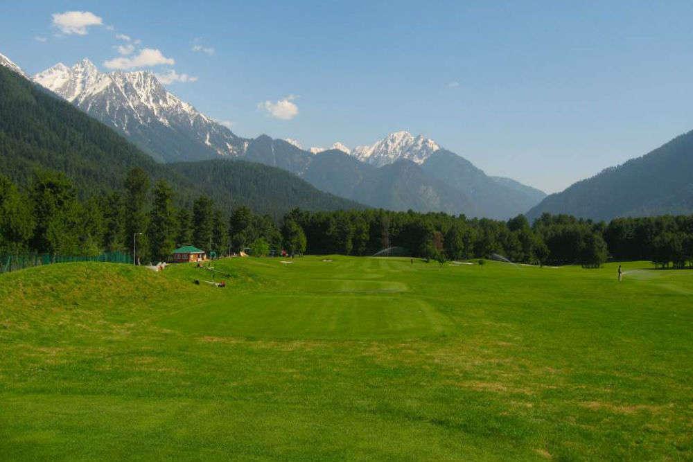 Golfing at Pahalgam Golf Club