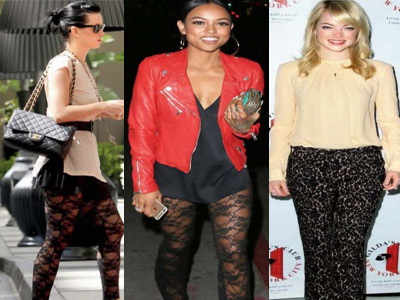 Trend alert: Lace pants are in style