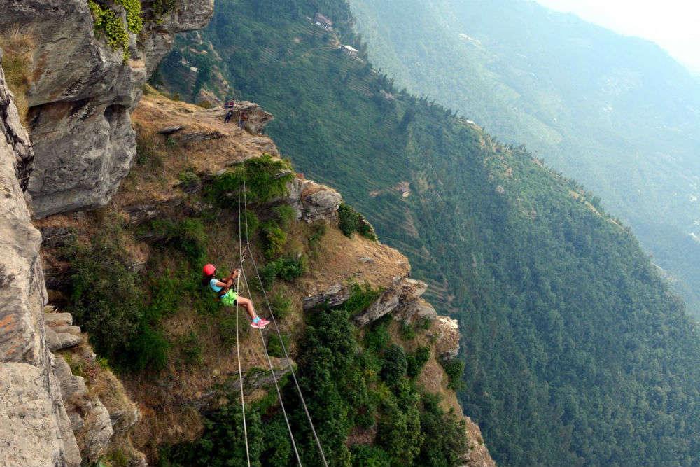 Zip-lining at Mukteshwar