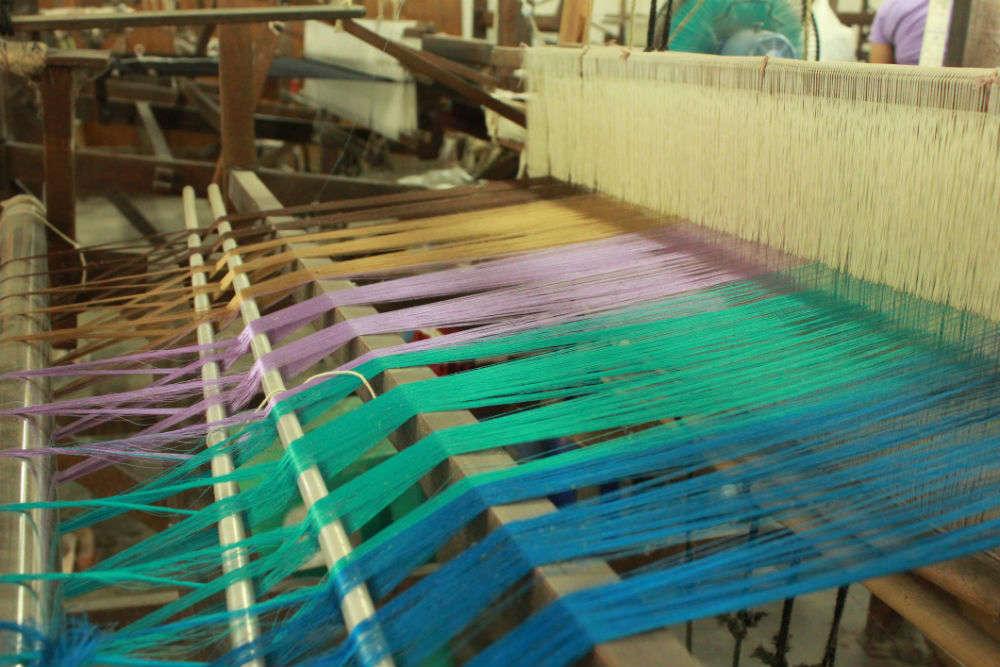 See a silk saree woven at the silk factory