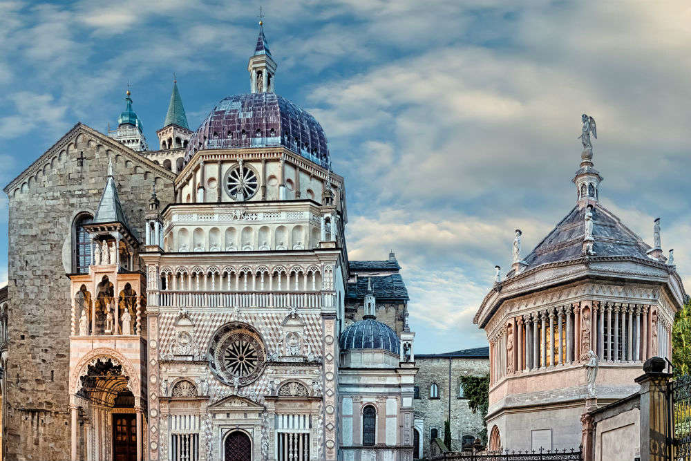 Exploring the beautiful city of Bergamo in Italy