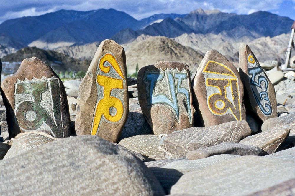 Mani stone carvings at Losar