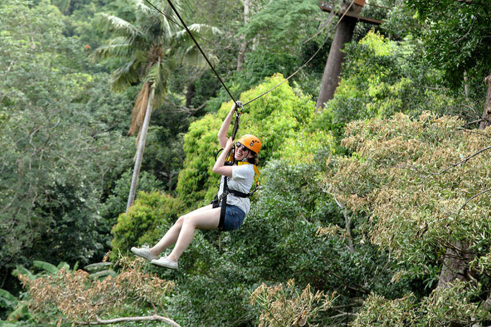 Ziplining at Flying Hanuman