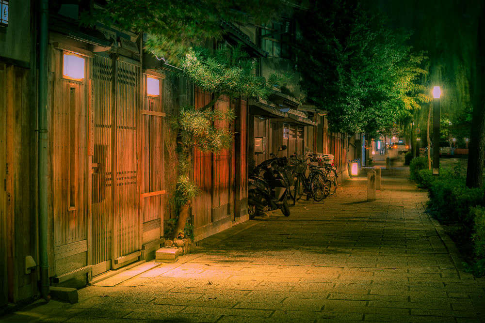 In the heart of Kyoto's nightlife central, Pontocho