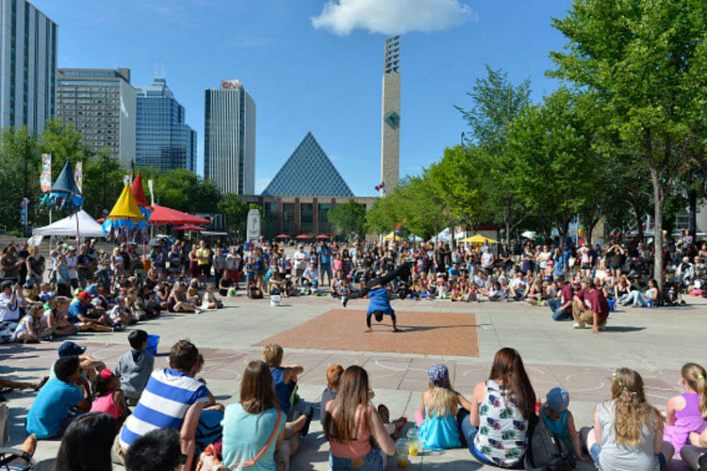 Attend the Edmonton Street Performers Festival