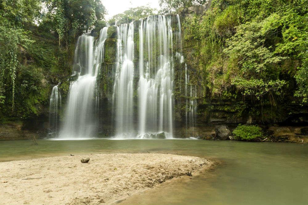The Llanos de Cortes Waterfall