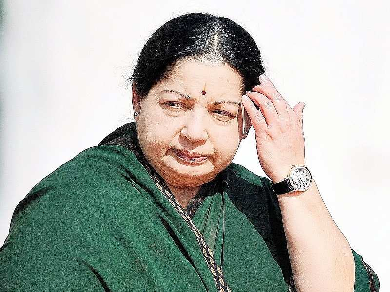Live: Jayalalitha: Jayalalithaa clad in her favourite green saree
