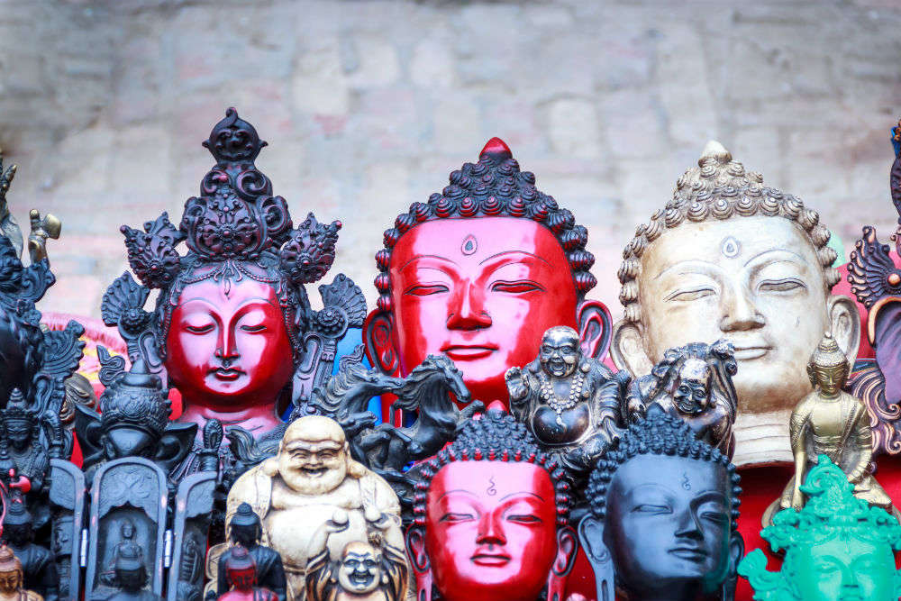 The shopping hubs of Kathmandu
