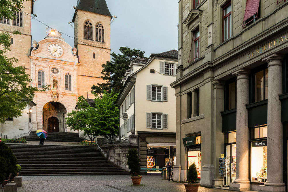 Collect authentic Swiss items while shopping in Lucerne
