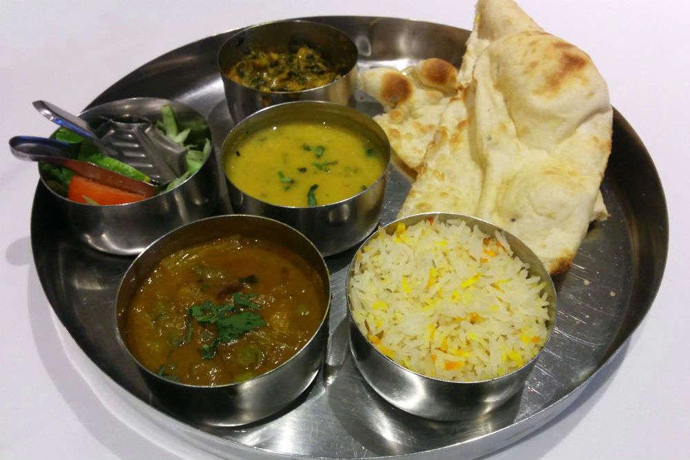 Lunch at Gujarati Bhojanalaya