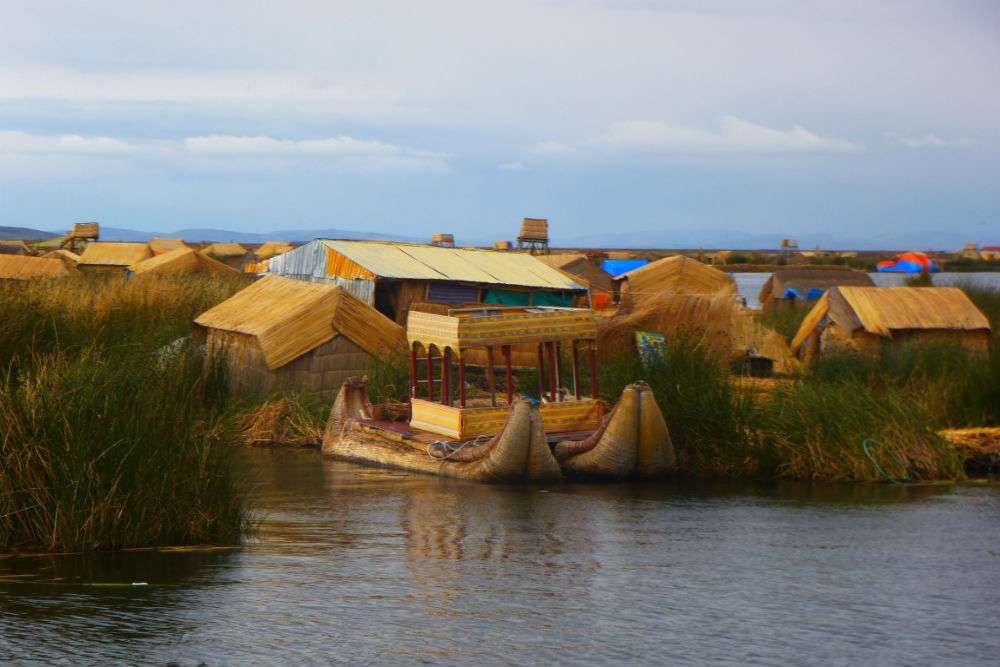 Floating islands at Lake Titicaca