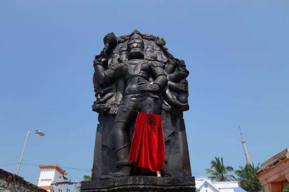 Pay obeisance to Hanuman at the five-faced Hanuman Temple