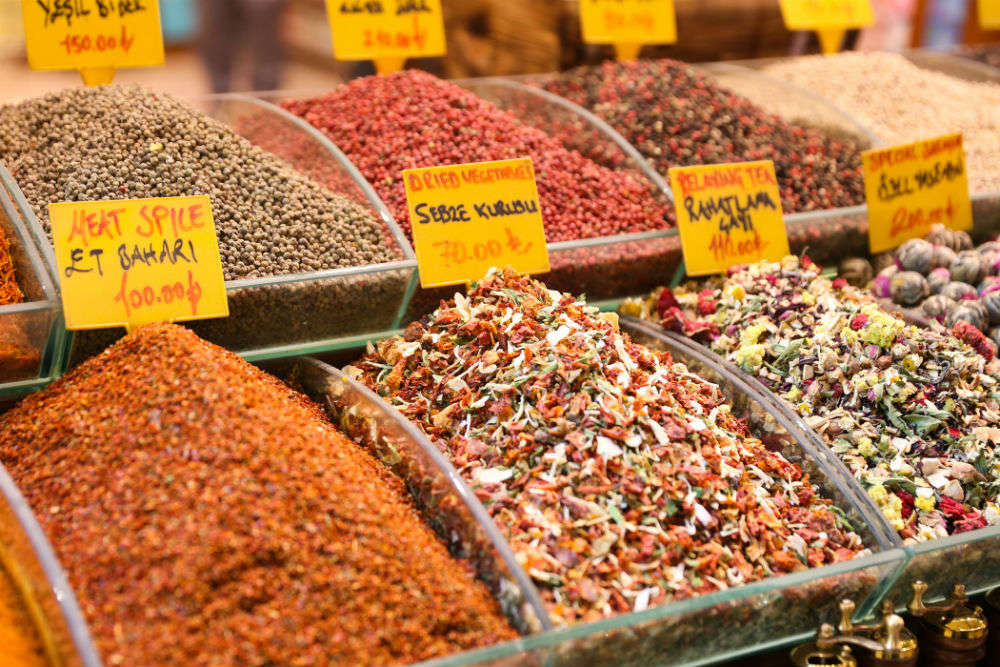 Go shopping at Spice Bazaar