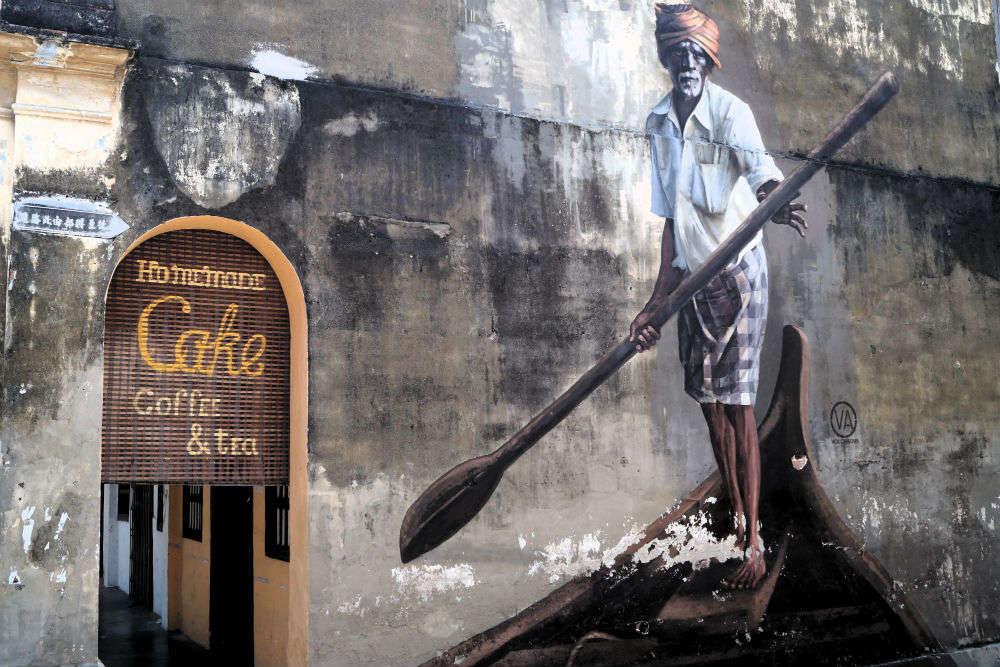 Explore Penang's fascinating neighborhoods and street art