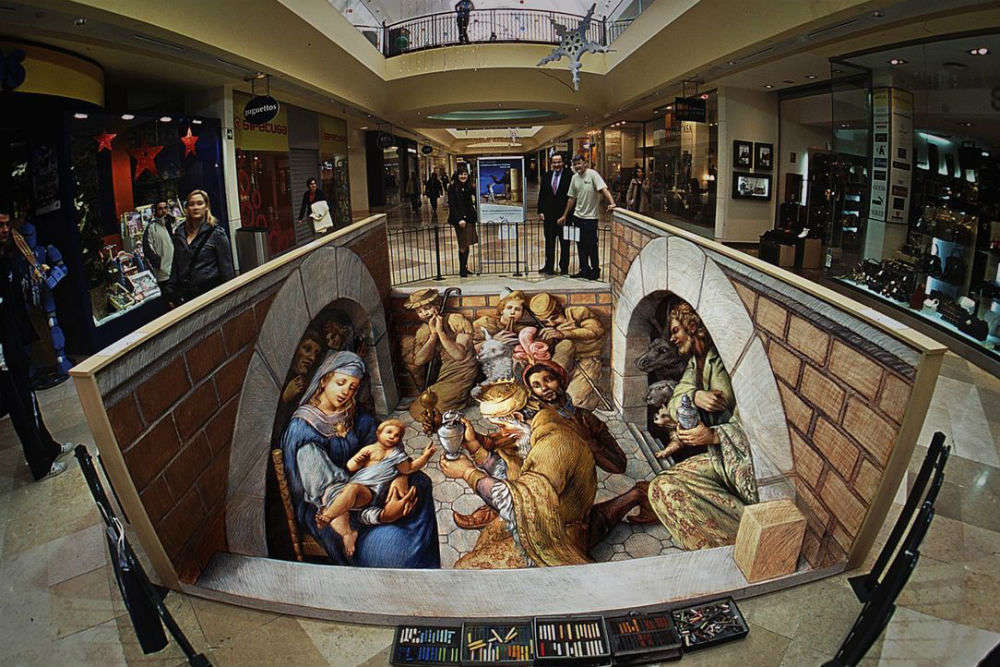 From deep crevasses to Renaissance art: 10 amazing 3D street paintings in the world