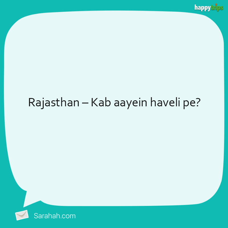 Dear tourism boards, check your Sarahah inbox. With love, not so anonymous.