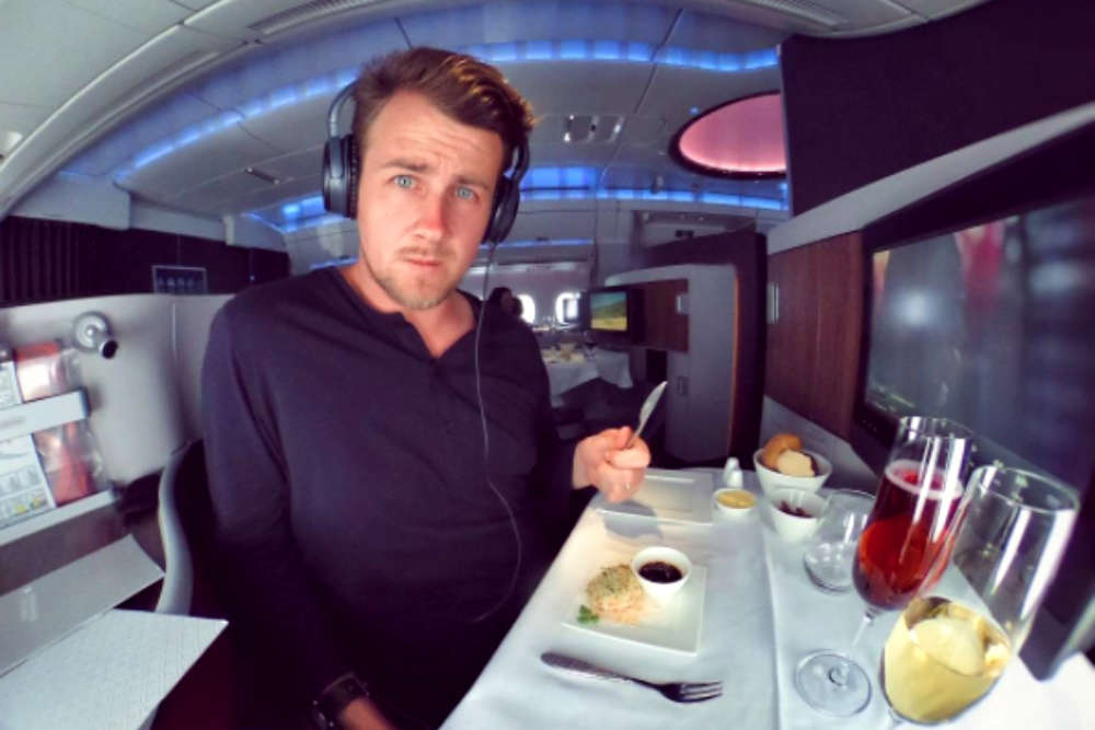 This man will give his First Class airplane seat to you for FREE!
