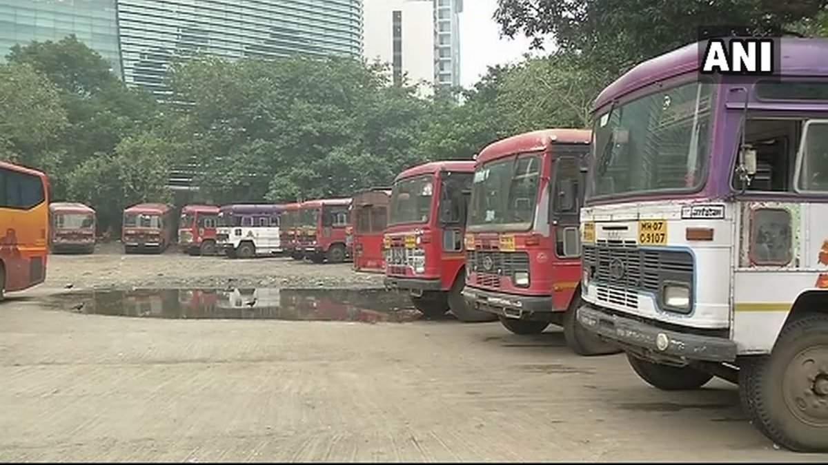 msrtc strike  msrtc calls off strike  bus services resume