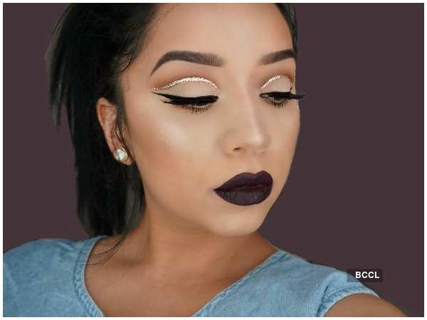 Try out the floating crease look this season