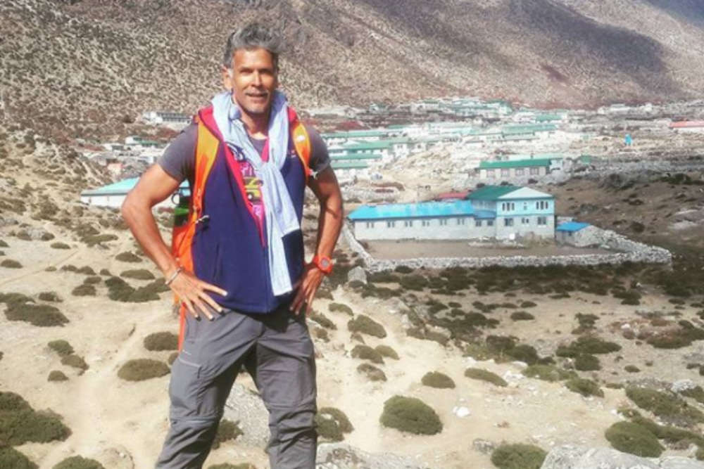 Milind Soman proves age is just a number by completing Everest Base Camp Trek