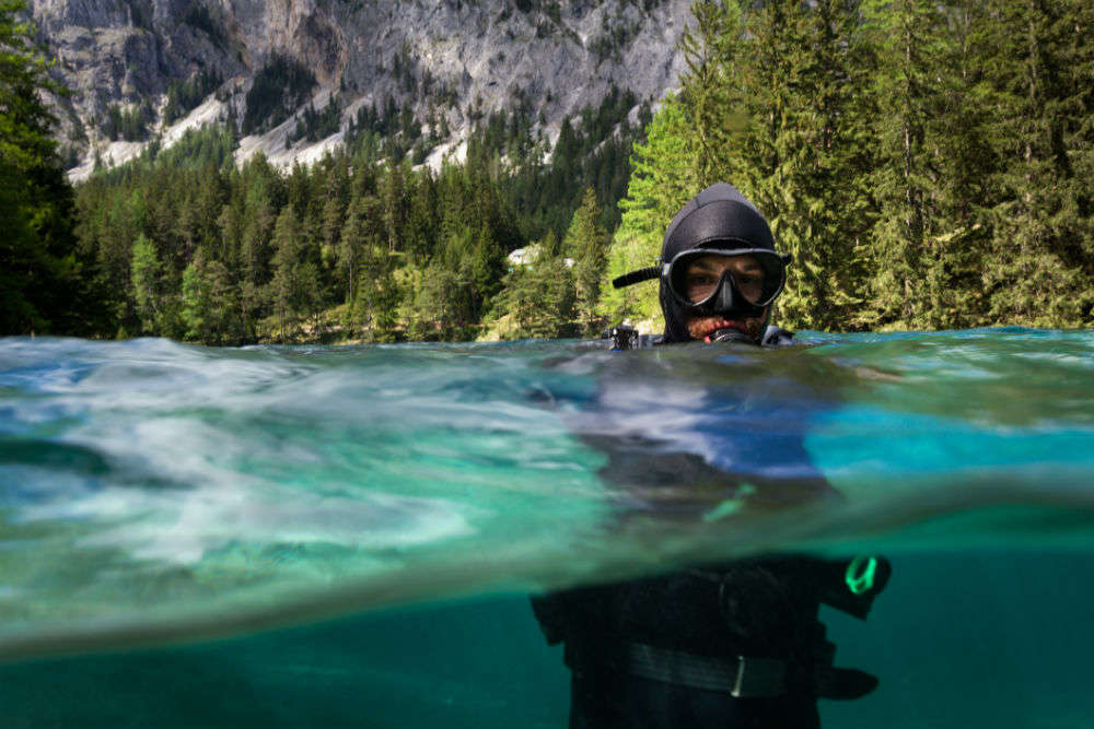 Diving into the mystical underwater world of Green Lake in Austria