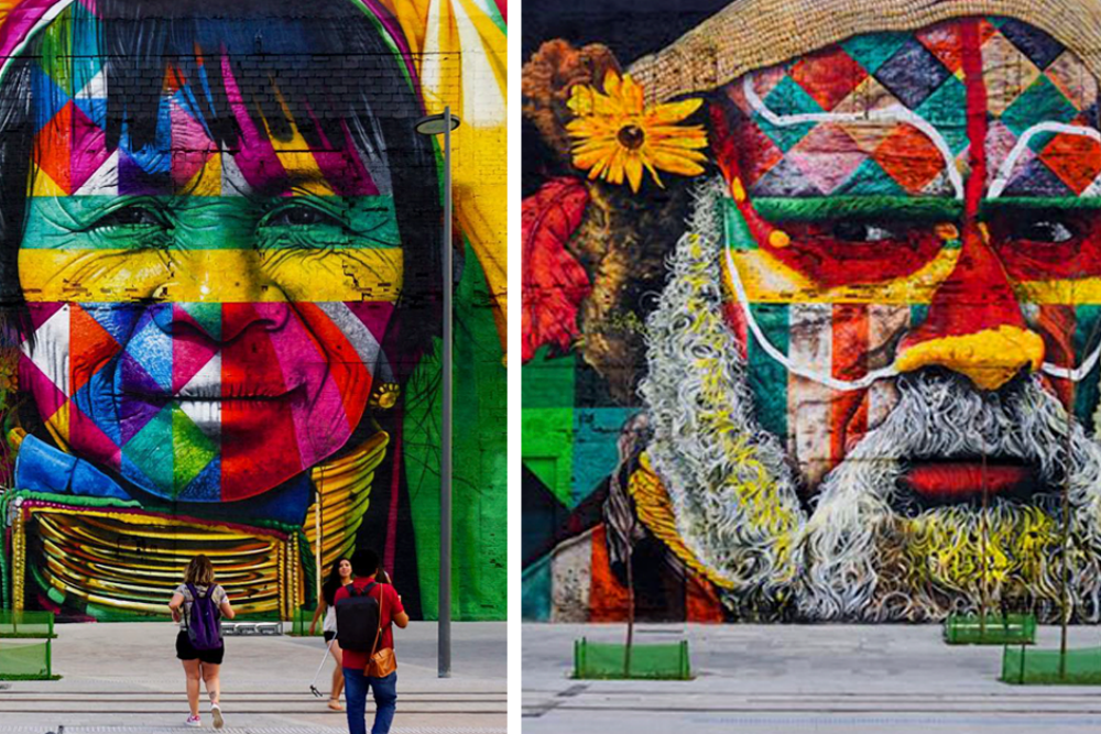 Brazilian graffiti artist creates record of painting the world's largest mural