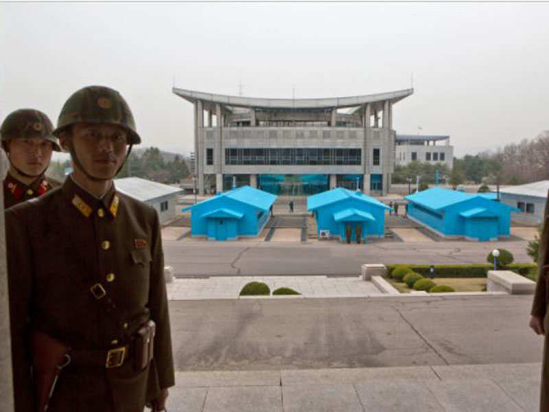 North Korea soldier shot six times as he defected to South - Times of India