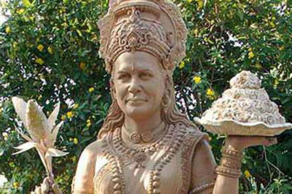 Sonia Gandhi Temple in Telangana has an idol of her posing like a goddess