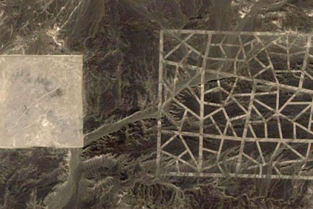 Google Maps captures mysterious lines on China's Gobi Desert