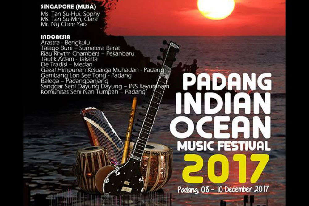 Musicians from Asian countries to be a part of Padang Indian Ocean Music Festival