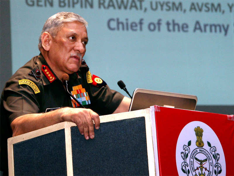 Military should be kept out of politics: Army chief - Times of India