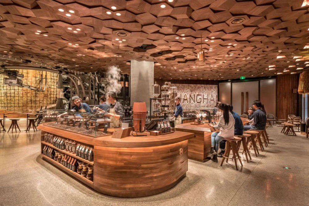 The world's biggest Starbucks cafe opens in China