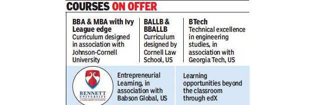 Bennett university: Best of Ivy League at Bennett University