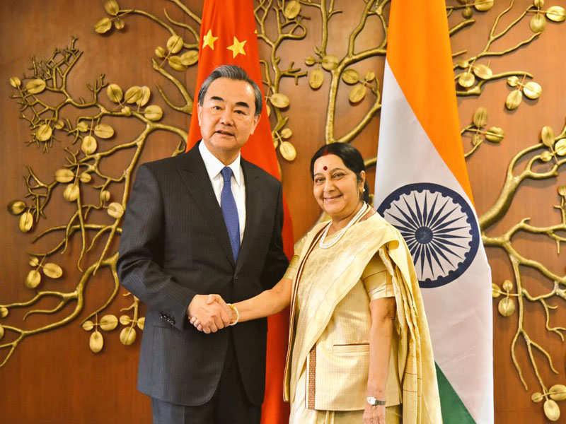 Wang Yi: Sushma Swaraj holds talks Chinese counterpart Wang Yi