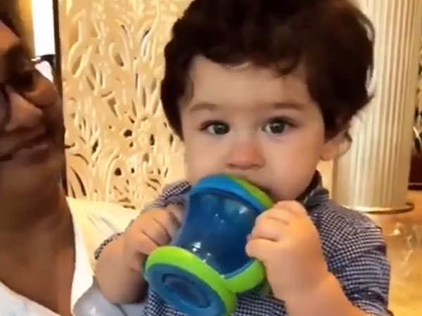 Watch: Jacqueline Fernandez is enamoured by Taimur Ali Khan's cuteness - Times of India