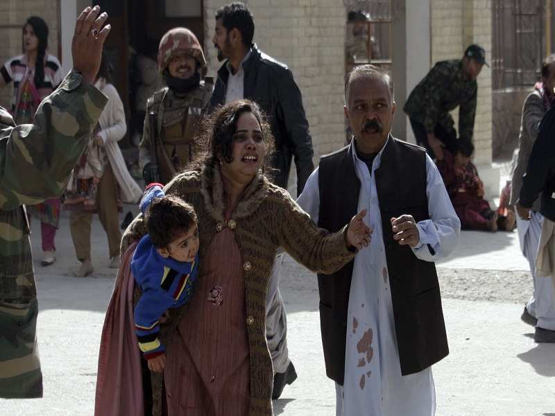 Image result for 9 killed, 44 injured in suicide attack on Quetta church, Nine people were