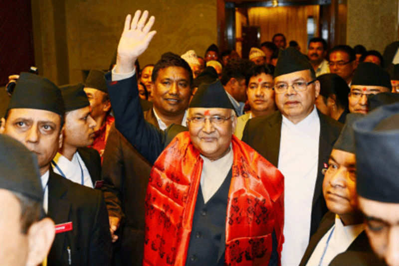 India yet to congratulate Oli-Prachanda alliance, says waiting for final results - Times of India