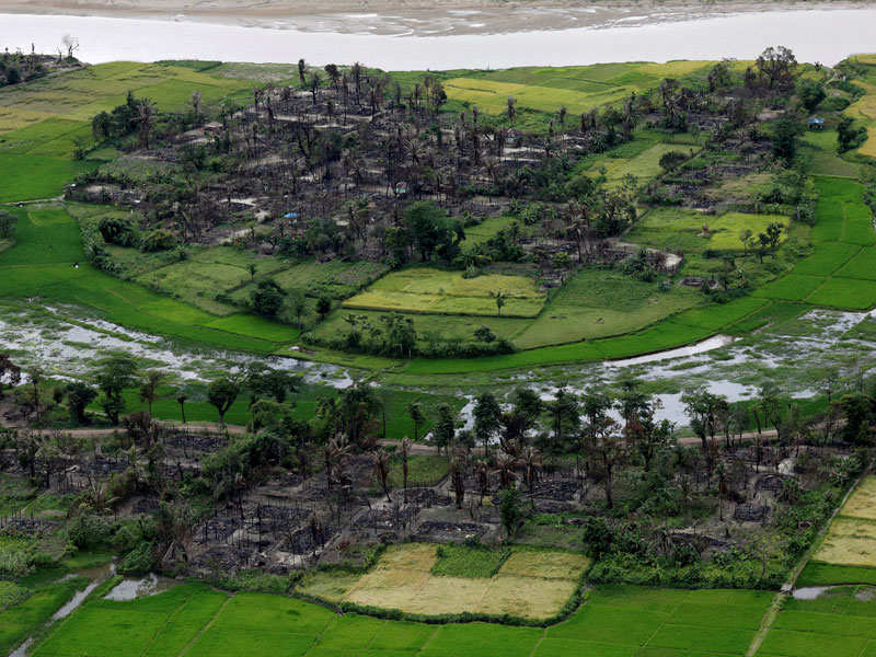 India inks pact to restore normalcy in Rakhine - Times of India