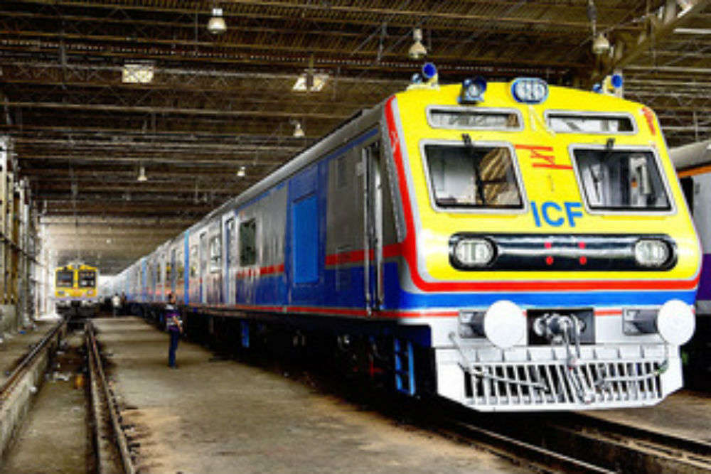 India's first AC suburban train runs on Mumbai tracks
